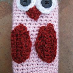 Valentine's Owl I Phone Cozy