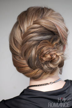 An intricate braided upstyle that will turn heads .  Free tutorial with pictures on how to style a French braid in under 10 minutes by hairstyling with hair grips. How To posted by Hair Romance. Difficulty: Easy. Cost: No cost. Steps: 2