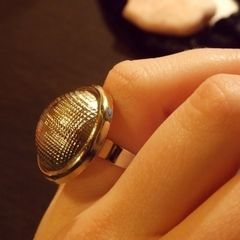 Statement Button Ring