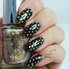 Arrowheads Patterned Nail Art With Tutorial