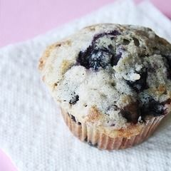 Browned Butter Double Blueberry Muffins