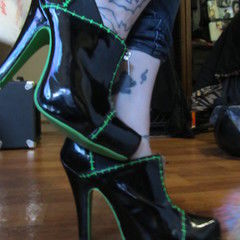 Upcycled Shoes Into Frankenstein Heels