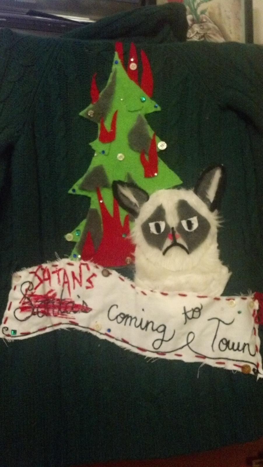 grumpy cat christmas sweater