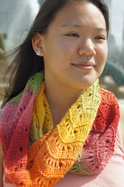 Urban Lace Infinity Scarf How To Knit A Lace Knit Scarf Knitting