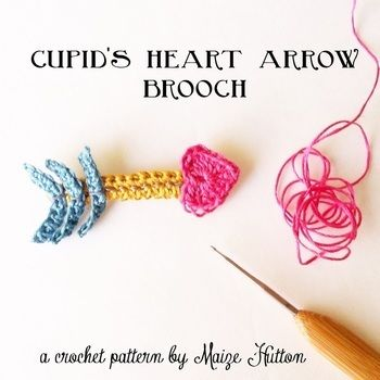Make one for a crafty friend! .  Free tutorial with pictures on how to stitch a knit or crochet heart brooch in under 30 minutes by crocheting with crochet hook, embroidery thread, and brooch back. Inspired by clothes & accessories. How To posted by maize hutton. Difficulty: Easy. Cost: No cost. Steps: 2