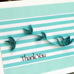 Quilled Bird Thank You Card