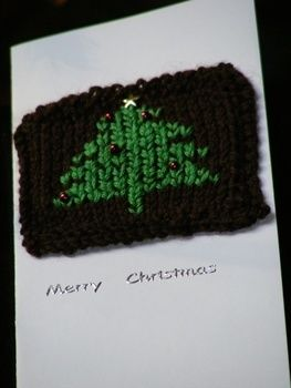 Knitting and cards together .  Free tutorial with pictures on how to stitch a knit or crochet card in under 180 minutes by knitting with yarn, beads, and embroidery thread. How To posted by Gemma T. Difficulty: Simple. Cost: No cost. Steps: 3