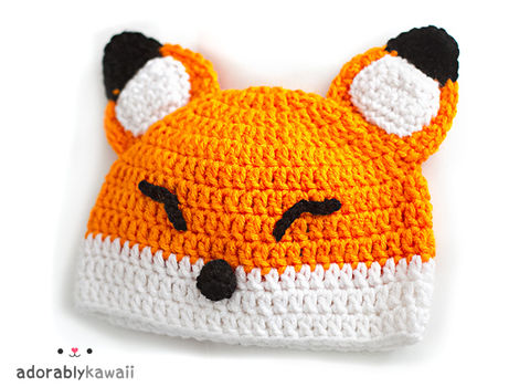 Cute baby hats .  Make an animal hat in under 120 minutes by sewing and crocheting with crochet hook and worsted weight yarn. Inspired by kawaii, foxes, and foxes. Creation posted by adorablykawaii. Difficulty: Easy. Cost: Cheap.