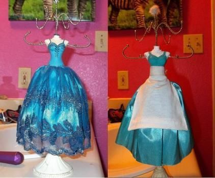 I want adventure in the great wide somewhere, I want it more than I can tell. .  Make a jewelry mannequin in under 12 minutes by decorating and sewing with fabric, scissors, and acrylic paint. Inspired by disney and beauty and the beast. Creation posted by KelliDroze. Difficulty: Simple. Cost: No cost.