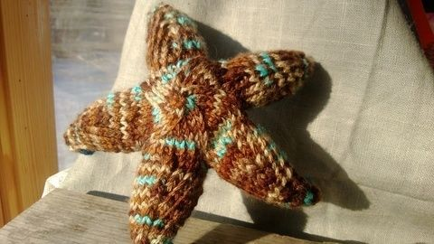 An awesome realistic starfish toy .  Make a shape plushie by needleworking, yarncrafting, crocheting, amigurumi, and knitting with worsted weight yarn and double pointed knitting needles. Inspired by gifts, vintage & retro, and kawaii. Creation posted by Amanda M. Difficulty: 4/5. Cost: Absolutley free.
