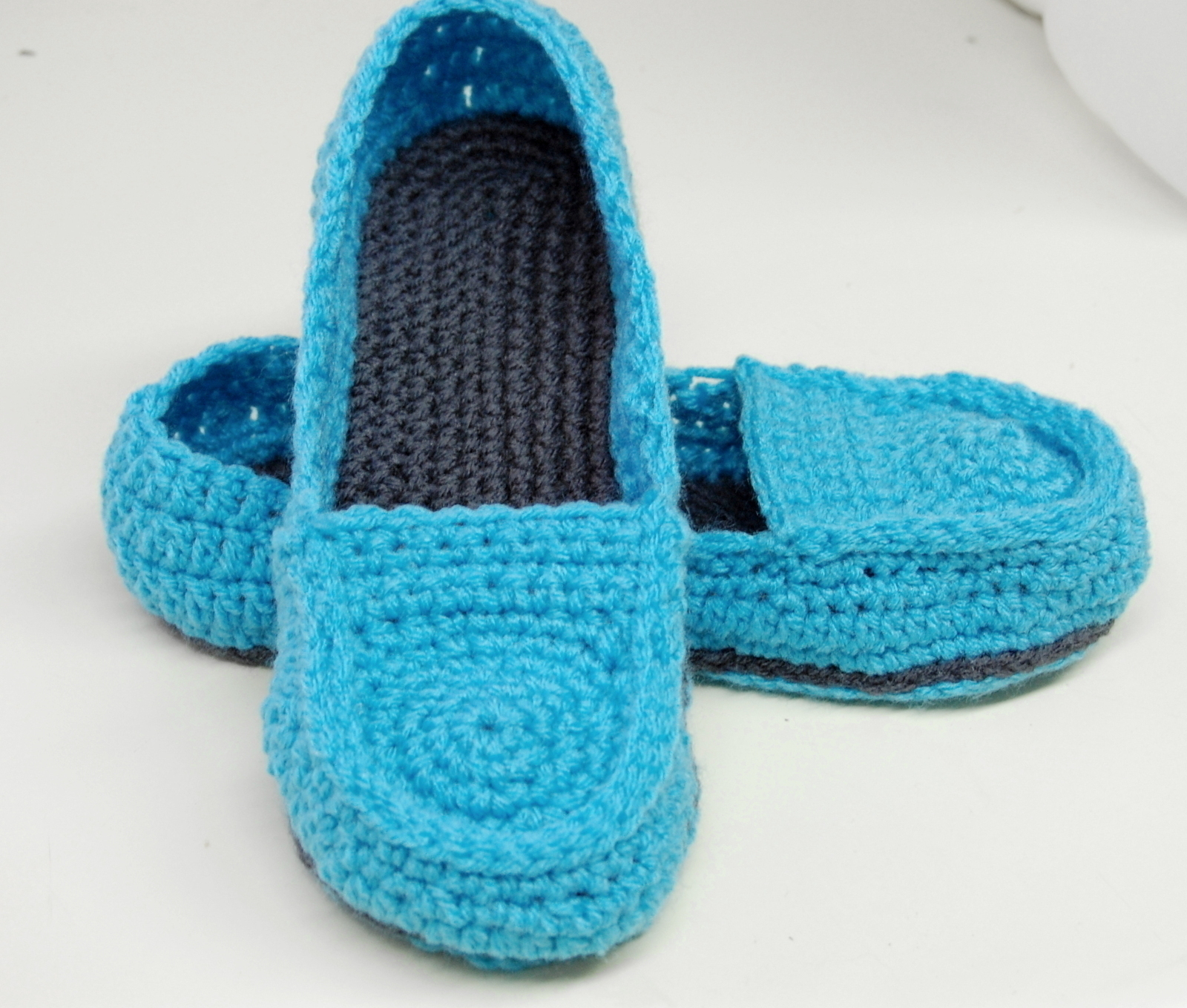 Free Crochet Pattern Womens Loafer Slippers A Pair Of Knit Or