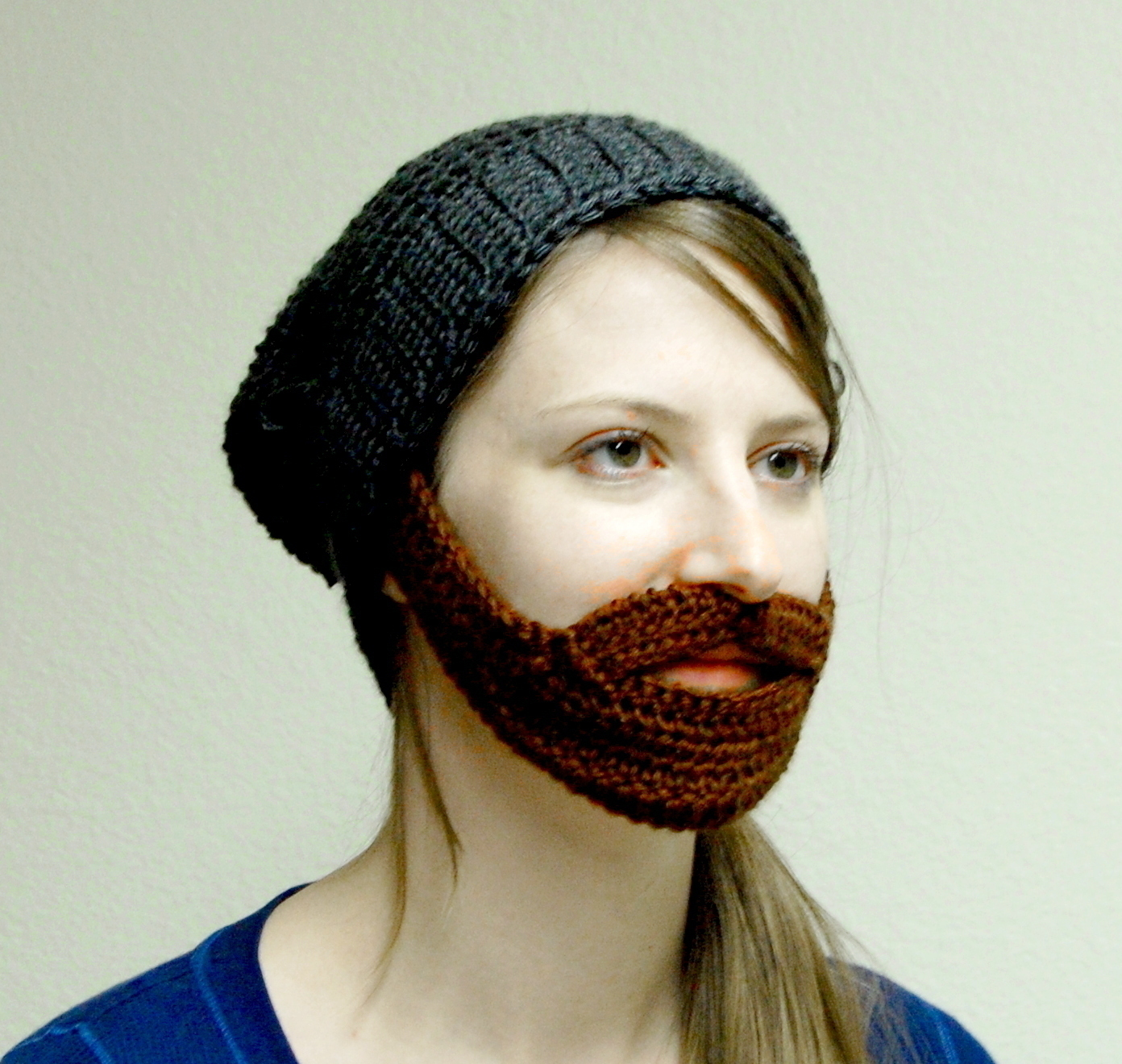 e52da0e7 Awesome Beard Beanie Crochet Pattern . Make a bearded hat in under 60  minutes by crocheting