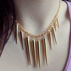 Golden Spike Necklace