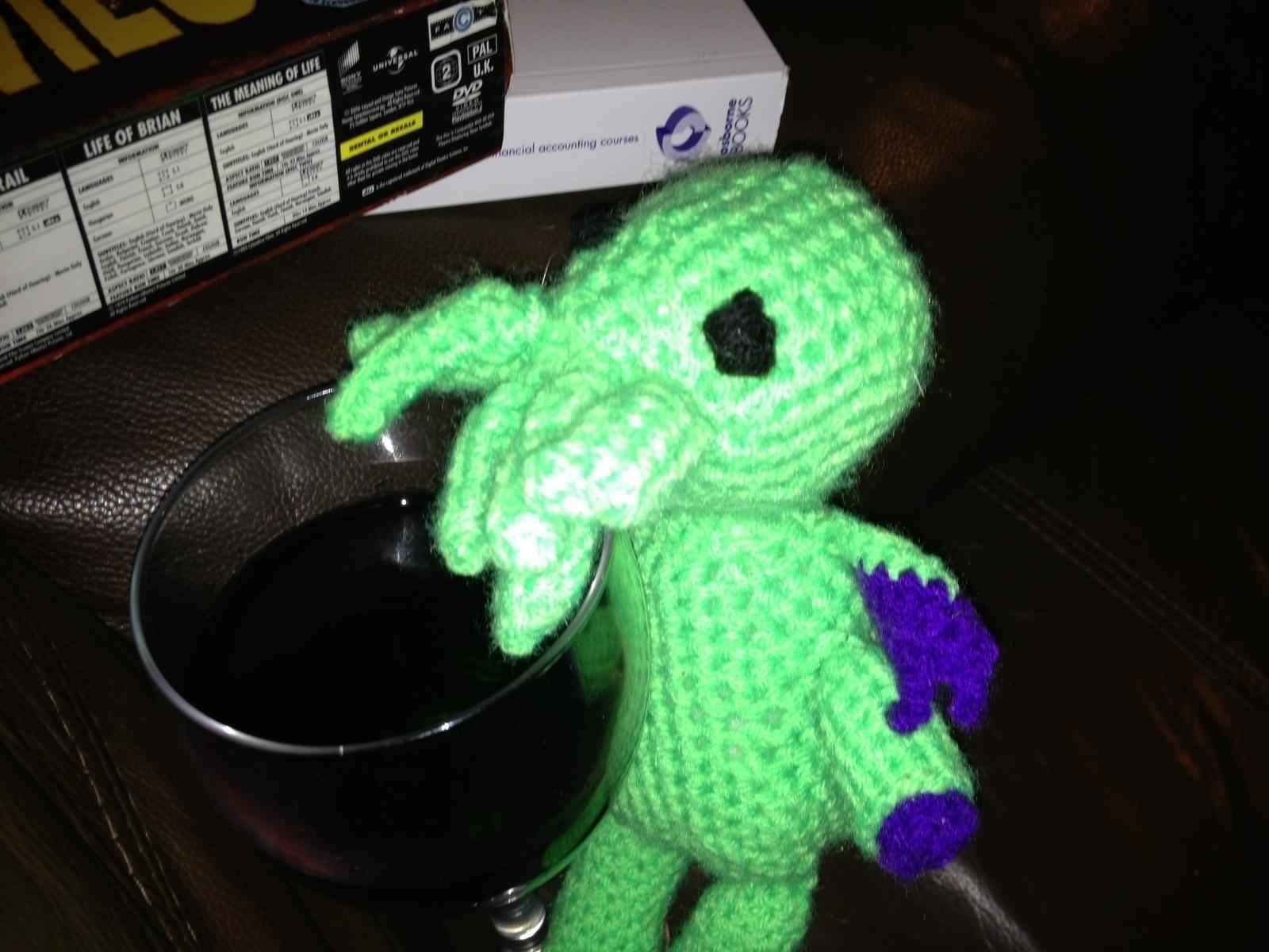 Little Crochet Cthulhu A Food Plushie Yarn Craft Crochet And