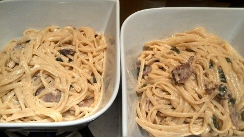 A recipe ^^ .  Free tutorial with pictures on how to cook a carbonara pasta in under 20 minutes by cooking with eggs, cream, and parmesan. Inspired by food. Recipe posted by teisha m. Difficulty: Simple. Cost: 3/5. Steps: 4
