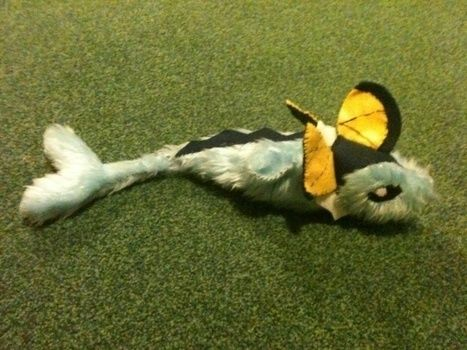 Come on out vaporeon! .  Make a Pokemon plushie by needleworking, embroidering, and sewing with fabric, felt, and thread. Inspired by pokemon. Creation posted by isobel.l. Difficulty: 4/5. Cost: No cost.