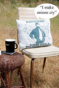 """Manly """"Muscle Tees"""" make great accent pillows for a man cave or bachelor pad.  .  Free tutorial with pictures on how to make a recycled cushion in under 60 minutes by machine sewing with t shirt. How To posted by Disney P. Difficulty: Easy. Cost: Cheap. Steps: 5"""