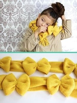Two $1 scarves become one adorable bow scarf with only a few lines of sewing! .  Free tutorial with pictures on how to make a fabric scarf in under 20 minutes by machine sewing with scarf. How To posted by Disney P. Difficulty: Easy. Cost: Cheap. Steps: 4