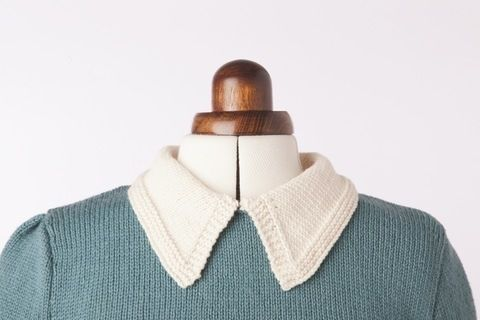 Knit Back In Time .  Free tutorial with pictures on how to stitch a knit or crochet collar in under 60 minutes by knitting with yarn and knitting needles. How To posted by Search Press. Difficulty: Simple. Cost: Cheap. Steps: 1