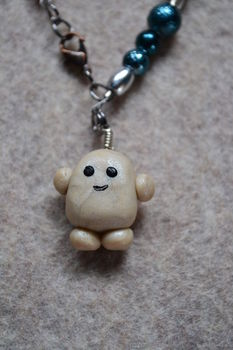 Adipose. It's Cute. .  Sculpt a clay character bracelet in under 60 minutes by beading, jewelrymaking, molding, and wireworking with beads, polymer clay, and nail polish. Inspired by gifts, kawaii, and clothes & accessories. Creation posted by Risa.Hanae (JapZilla). Difficulty: Simple. Cost: Cheap.