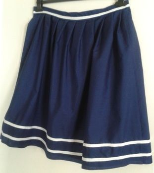 Essential nautical must have! .  Free tutorial with pictures on how to make a skirt in under 120 minutes by dressmaking and sewing with buttons, zipper, and cotton. Inspired by sailor moon, nautical, and vintage & retro. How To posted by Jezek. Difficulty: Simple. Cost: Absolutley free. Steps: 3