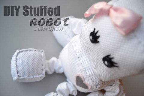 Super Cute Robot! .  Make a food plushie in under 120 minutes by sewing with fabric, thread, and needle. Inspired by gifts, domo kun, and domo kun. Creation posted by blogali. Difficulty: 3/5. Cost: Cheap.