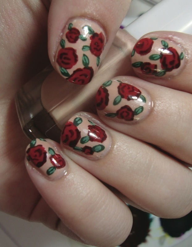 Vintage Rose Nails · Extract From DIY Nail Art By
