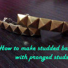 Studded Barrette With Pronged Studs