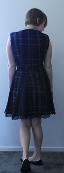 A little number I Frankensteined together. Part Pattern, part magic .  Make a tunic dress by sewing with pattern, lace trim, and calico. Creation posted by Kiwi Kaos. Difficulty: Easy. Cost: 3/5.