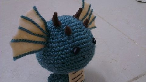 Such a cute little fella :) .  Make a food plushie by crocheting and amigurumi with felt, yarn, and crochet hook. Inspired by domo kun, domo kun, and domo kun. Creation posted by Gurevitz L. Difficulty: 3/5. Cost: Absolutley free.
