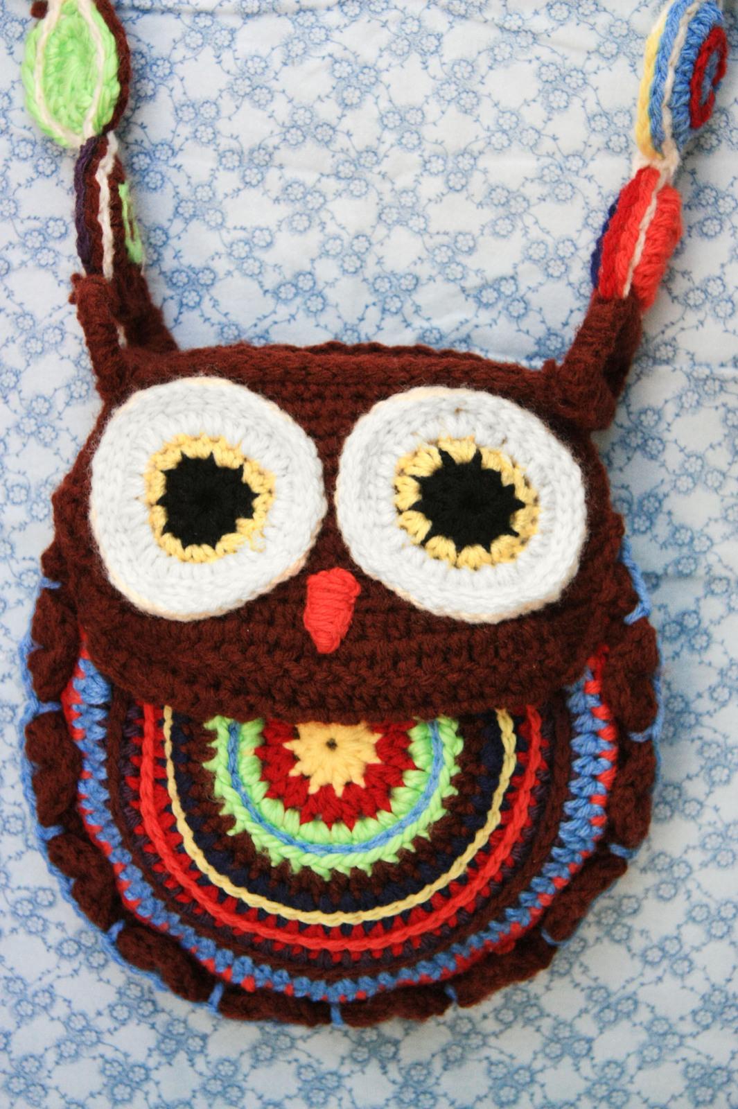 Tapestry Crochet Bag Owl Purse