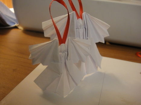 Cute angel to hang on your tree .  Free tutorial with pictures on how to make an angel in under 30 minutes by creating and papercrafting with ribbon, hot glue gun, and origami paper. Inspired by gifts, christmas, and angels. How To posted by Pramodini Arela. Difficulty: 4/5. Cost: Absolutley free. Steps: 4