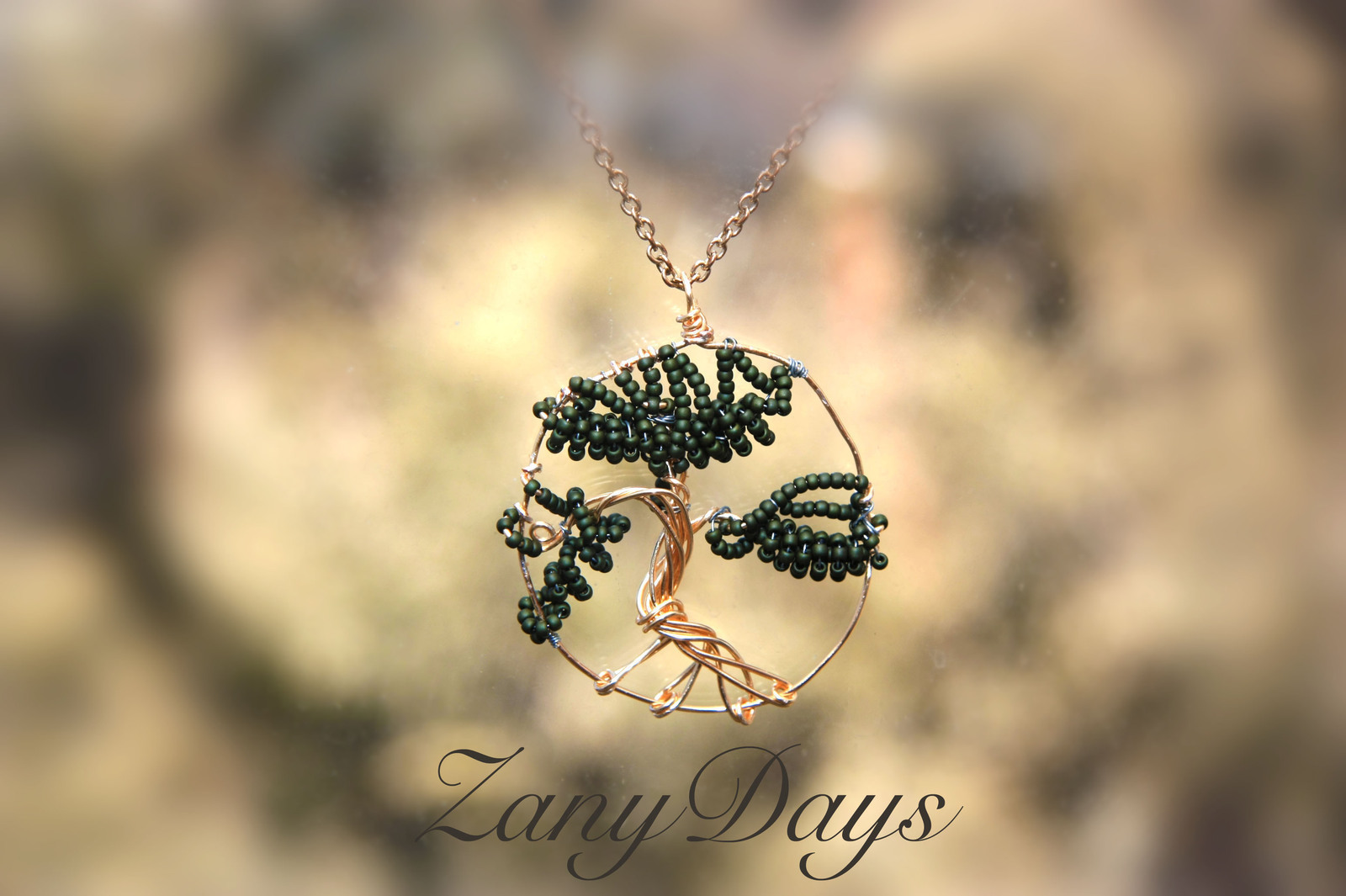 Beaded Bonsai Tree Pendant A Wire Pendant Creation By Zanydays