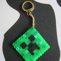 Minecraft Bead Creeper Keyring