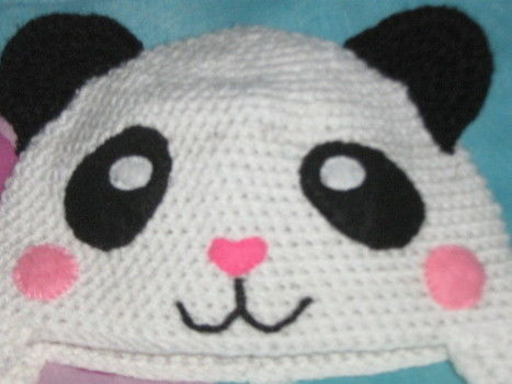 Yes. another panda hat!!! .  Make an animal hat by braiding, sewing, and crocheting with felt, thread, and yarn. Inspired by halloween, kids, and costumes & cosplay. Creation posted by Nancy!. Difficulty: Simple. Cost: Cheap.