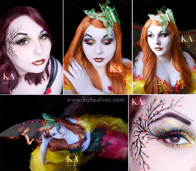 A fairy look perfect for Halloween!  .  Free tutorial with pictures on how to create a face painting in under 60 minutes by applying makeup, applying makeup, and applying makeup with eyeshadow. Inspired by fairies, fairies, and costumes & cosplay. How To posted by KatieAlves. Difficulty: 3/5. Cost: 3/5. Steps: 1