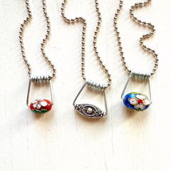 Upcycled Clothespin Pendants