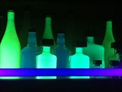 Make your own highlighter bottles that will glow in blacklight! .  Free tutorial with pictures on how to make a bottle lamp in under 10 minutes using latex gloves, wine bottle, and highlight color. Inspired by vintage & retro. How To posted by . Difficulty: Easy. Cost: Absolutley free. Steps: 4