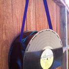 Vinyl Record Purse 12in