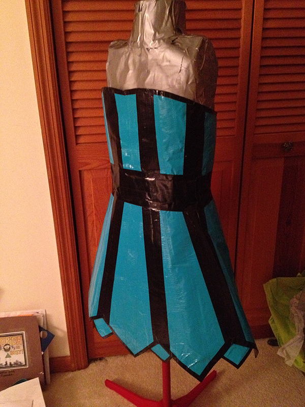 Duct Tape Strapless Corset Dress 183 A Duct Tape Dress