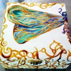Dragonfly Art Nouveau Jewelry Box