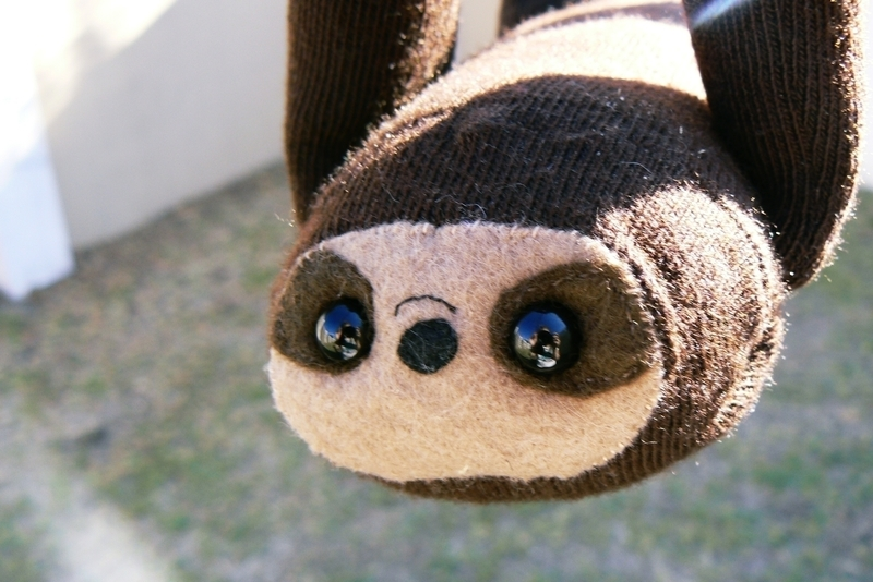 Sock Sloth How To Make A Sloth Plushie Sewing on Cut