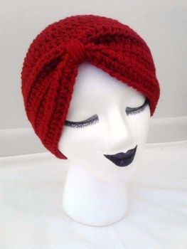 Perfect accessory for a bad hair day! .  Make a turban in under 120 minutes by crocheting with crochet hook, worsted weight yarn, and yarn needle. Inspired by gifts and clothes & accessories. Creation posted by Rachell S.  in the Yarncraft section Difficulty: 3/5. Cost: Cheap.