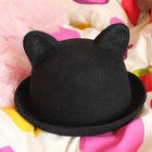 Bowler Hat With Cat Ears!