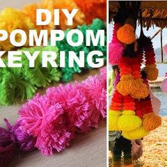 Pompom Keyring