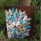 Paper Scraps Flower Wall Art