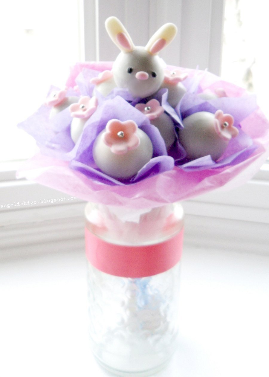 Easter Bunny Cake Pops Bouquet 183 How To Decorate An Animal Cake 183 Recipes On Cut Out Keep