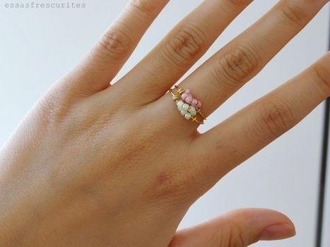Make this rings with a few steps! .  Free tutorial with pictures on how to make a wire ring in under 30 minutes by jewelrymaking and wireworking with beads, wire, and pliers. How To posted by paola.frescurites.  in the Jewelry section Difficulty: Easy. Cost: Cheap. Steps: 4