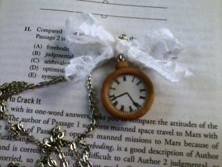Easy and cute homemade necklace .  Make a watch pendant in under 20 minutes by jewelrymaking with paper, chain, and background. Inspired by clothes & accessories. Creation posted by Haley L.  in the Jewelry section Difficulty: Easy. Cost: Cheap.