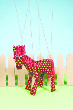 Sew Easy for Kids .  Free tutorial with pictures on how to make a horse / pony plushie in 7 steps by hand sewing with felt, hot glue gun, and wool. Inspired by horses. How To posted by FW Media. Difficulty: 3/5. Cost: Cheap.